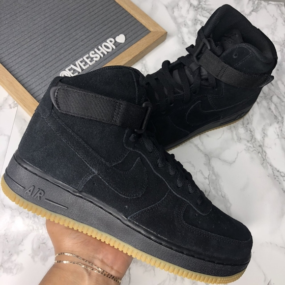 Nike Shoes Air Force 1 Hi Black Suede Poshmark